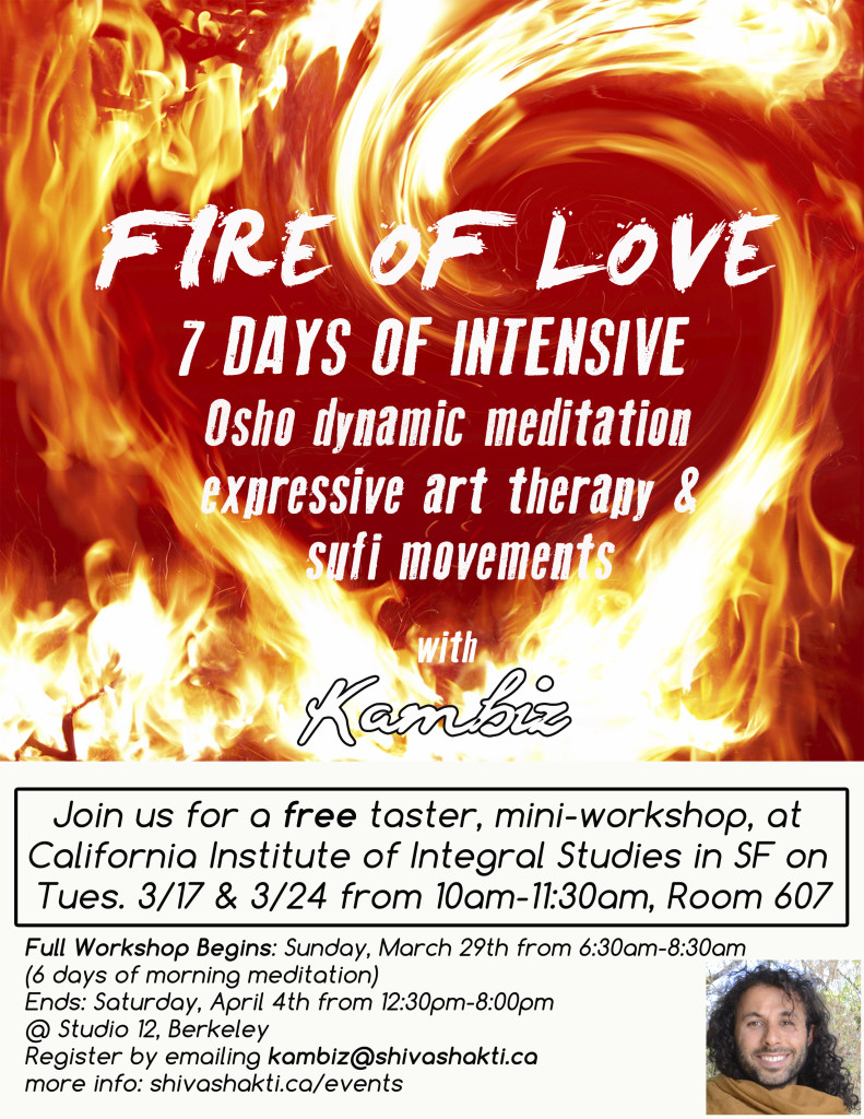 CIIS poster Fire of Love Mar/Apr 2015